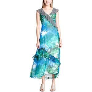 Calvin Klein 6 Dress Daytime Maxi Ruffled 1352